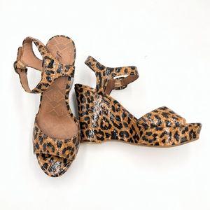 Lucky Brand Lindey Platform Wedges Sandal Size 9